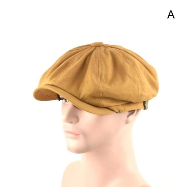 2019 Man Pure Cotton Octagonal Hat Spring And Summer Female Beret Male Painter Cap Popular Ivy Hat Male Fitted Newsboy Cap