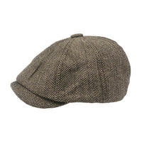 Mens Newsboy Cap Tommy Shelby Peaky Blinders Herringbone Gatsby Baker Boy Hat