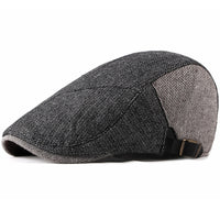 HT2189 Autumn Winter Men Cap Hat Adjustable Men Berets Patchwork Flap Caps Male Cabbie Newsboy Ivy Caps Vintage Retro Beret Caps
