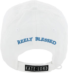 Ladies Reely Blessed Tuna Hat, White back