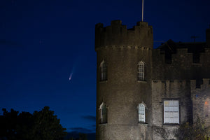 Comet Neowise and Malahide Castle Tower