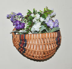 hanging Amish basket with flowers
