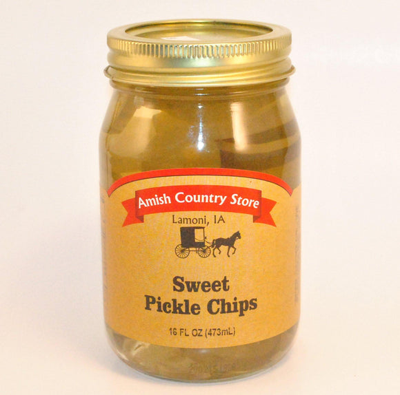 Sweet pickle chips 16 oz