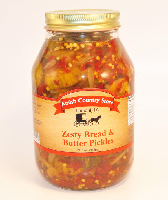 Zesty Bread & Butter Pickles 32 oz