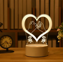 Load image into Gallery viewer, Valentine's Day Gift, 3D Lamp Acrylic LED Night Light - shipshopsave