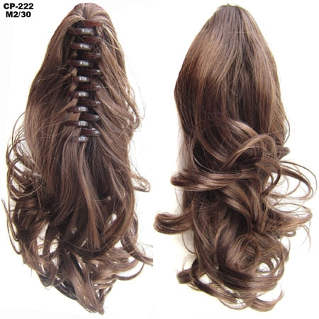 Clip-on Ponytail Hair Extension.