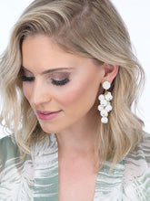 Load image into Gallery viewer, White Grape Drop Earrings