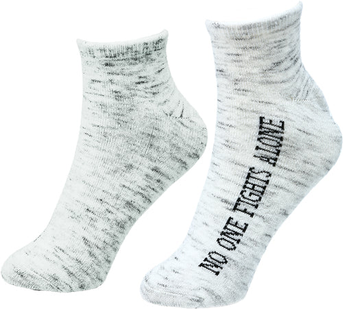 No One Fights Alone Inspirational Socks
