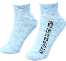 Load image into Gallery viewer, Kick Cancer to the Curb Inspirational Socks