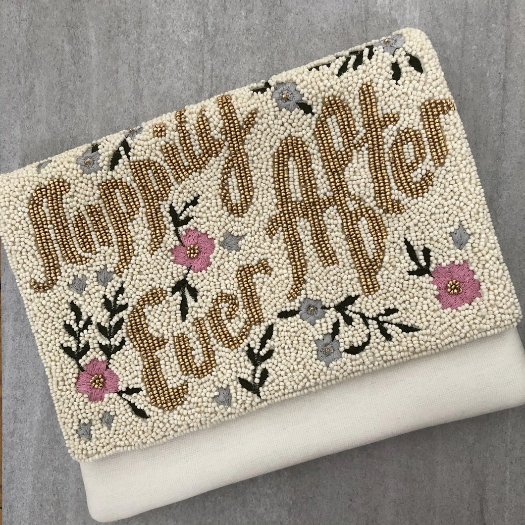 Happily Ever After Hand Beaded Clutch