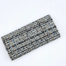 Load image into Gallery viewer, Teal Blue Woven Pinch Clutch Wallet