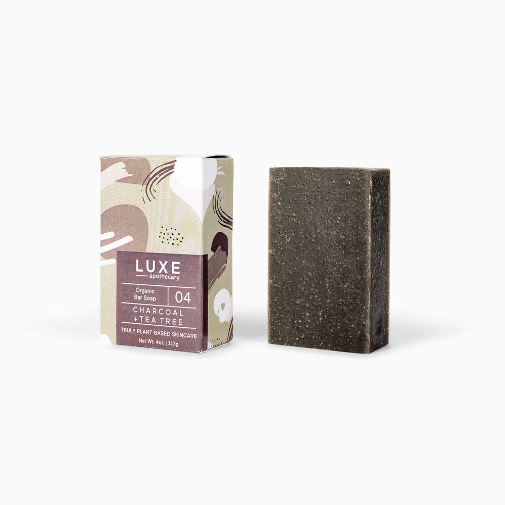 Charcoal + Tea Tree Organic Bar Soap