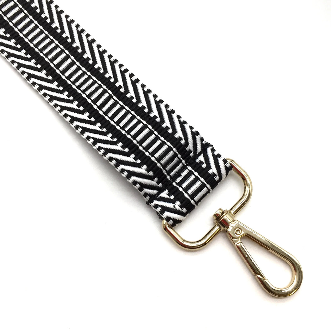 Black & White Geo Bag Strap