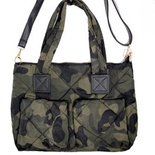 Load image into Gallery viewer, Camo Puffer Purse