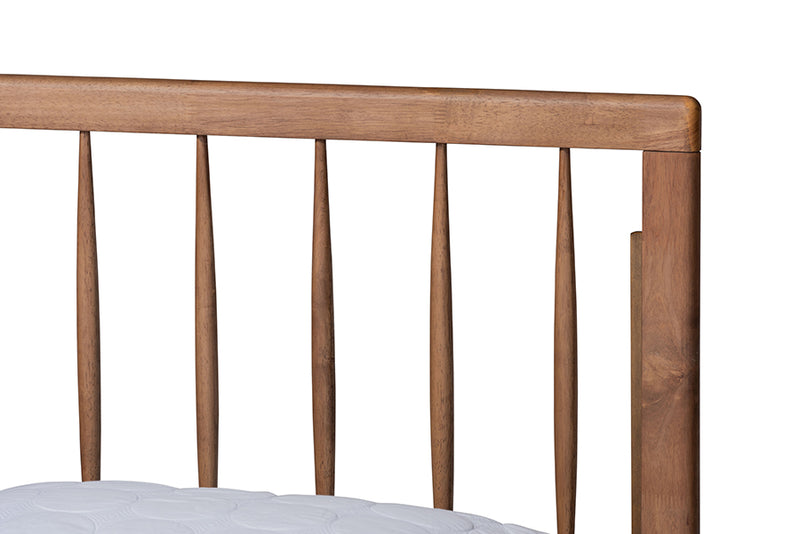 Sorally Ash Walnut Finished Wood Platform Bed (Full)