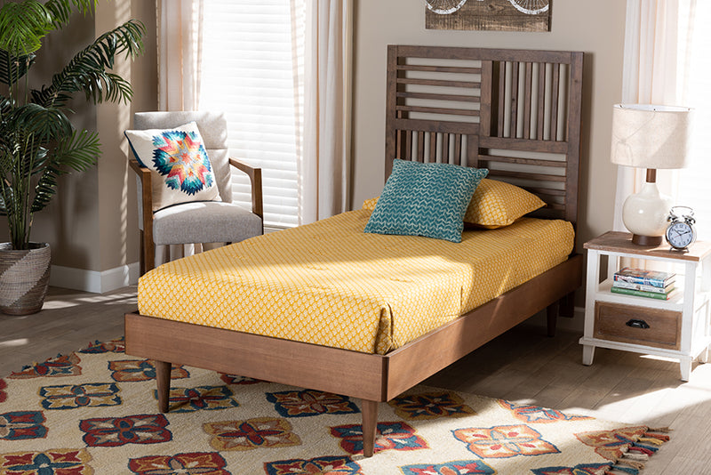 Sunderland Walnut Brown Finished Wood Platform Bed (Twin)