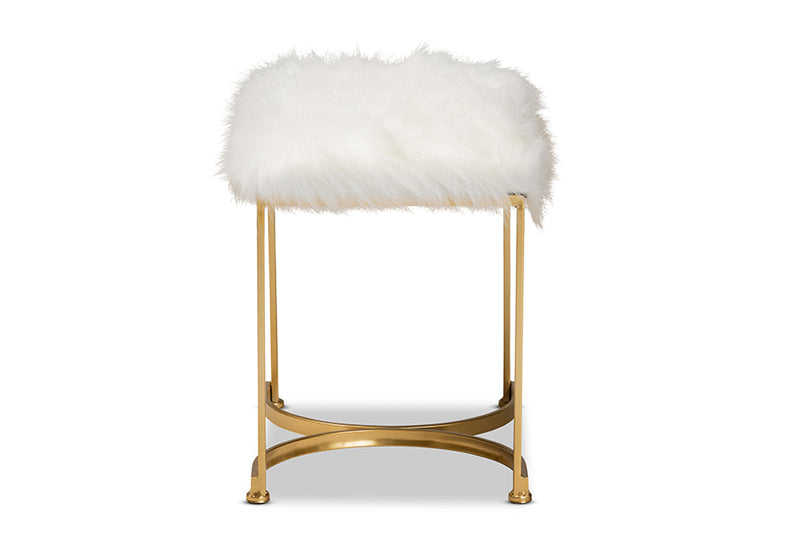 Lancashire Grey Velvet Fabric Upholstered Gold Finished Round Cocktail Ottoman