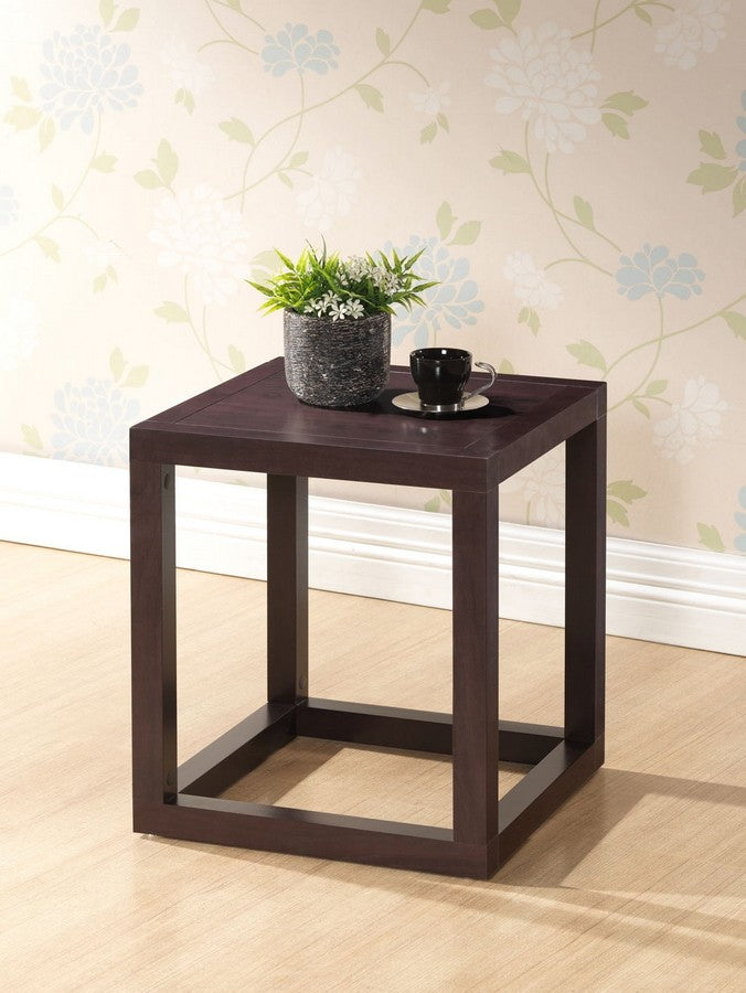 Hallis Brown Modern Accent Table and Nightstand