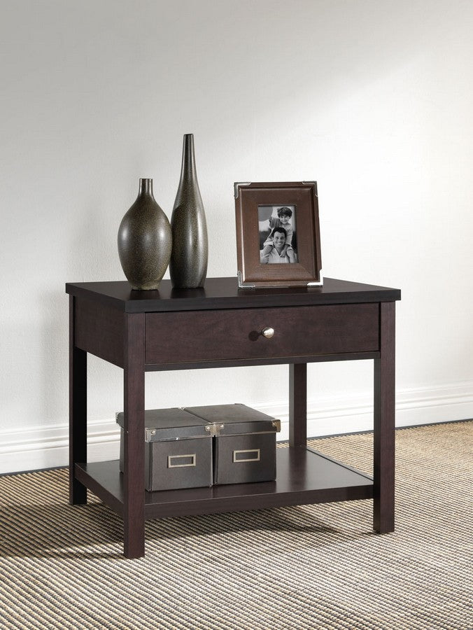 Nashua Brown Modern Accent Table and Nightstand