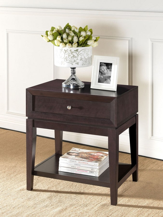Morgan Brown Modern Accent Table and Nightstand
