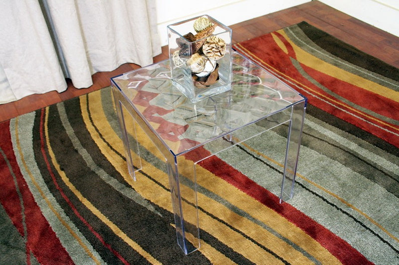Parq Clear Acrylic Modern End Table