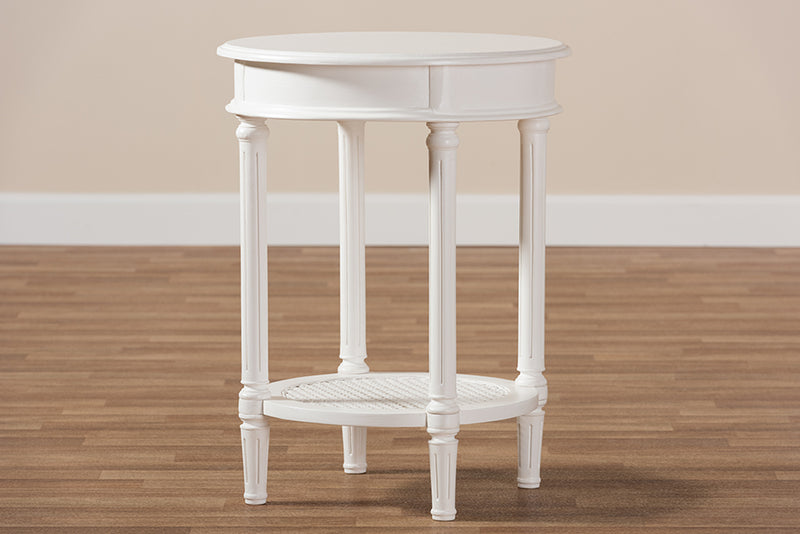 Lucia White End Table