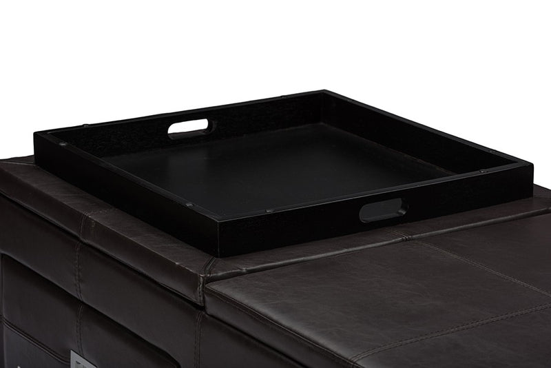 Indy Functional Lift-top Cocktail Ottoman Table with Storage Drawers and Tray