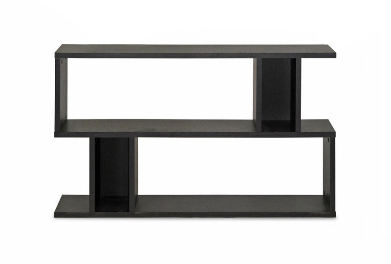 Goodwin 2-Level Dark Brown Modern Bookshelf