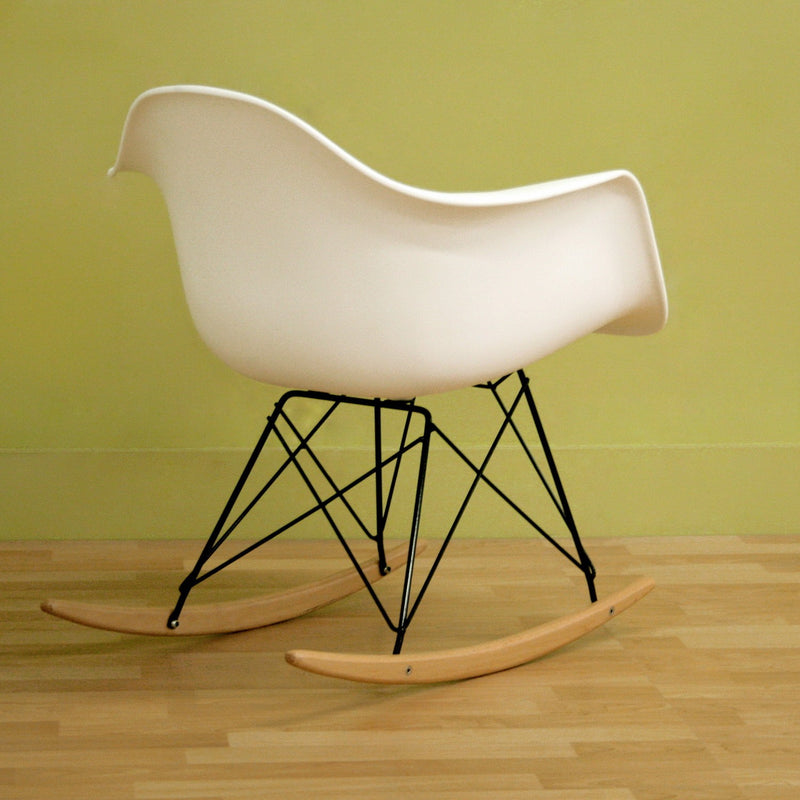 Dario White Plastic Rocking Chair