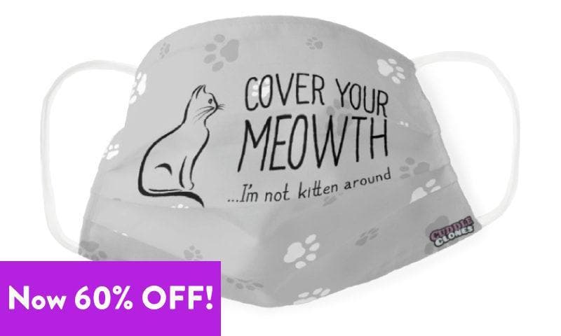 """""""Cover Your Meowth"""" Cat Face Mask"""