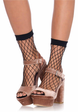 Black Diamond Net Anklets - Amore Lingerie