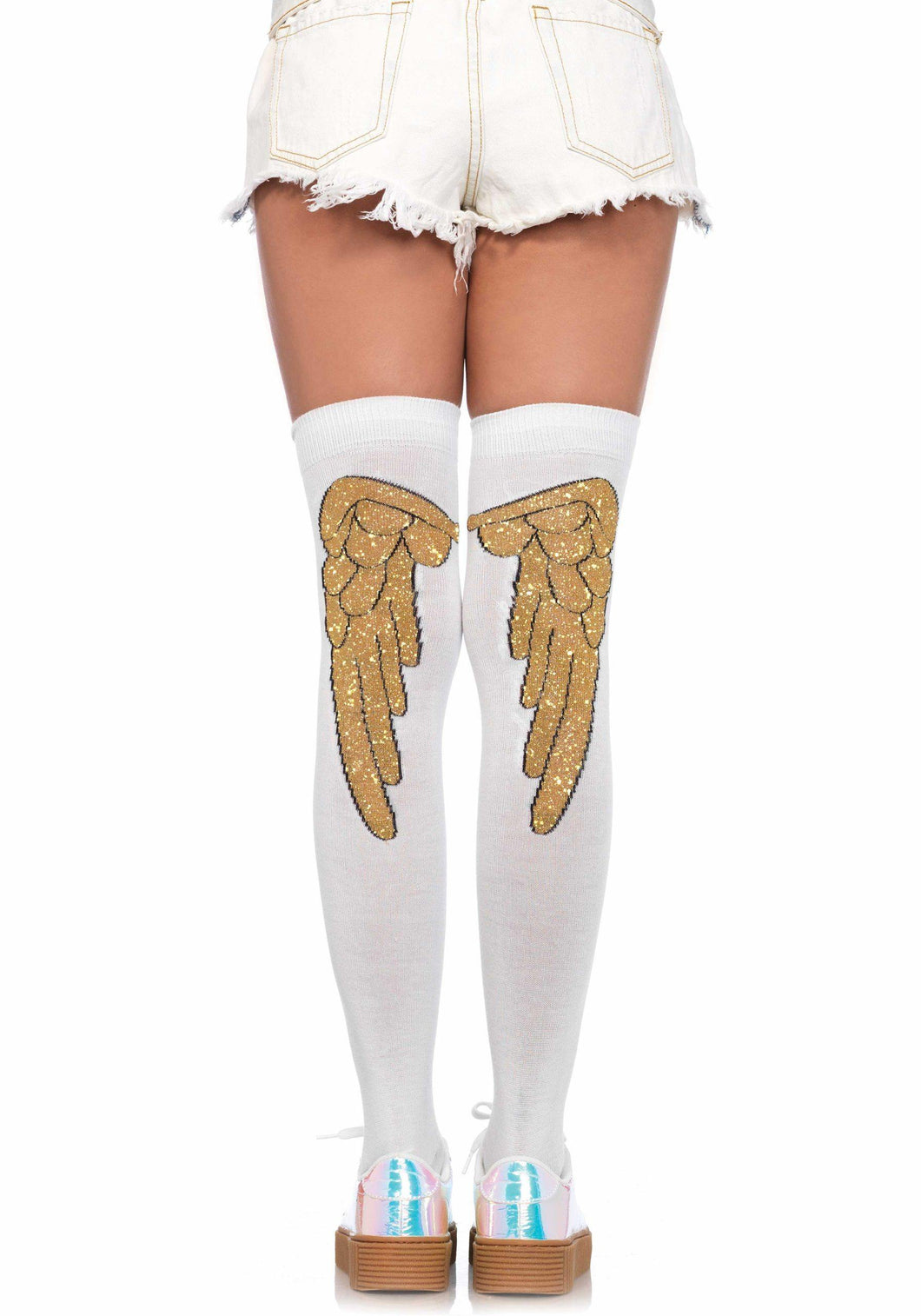 Angel Wing Over-Knee Socks - Amore Lingerie