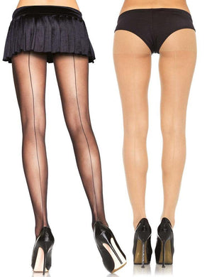 Back Seam Sheer Vintage Retro Fashion Tights - Amore Lingerie