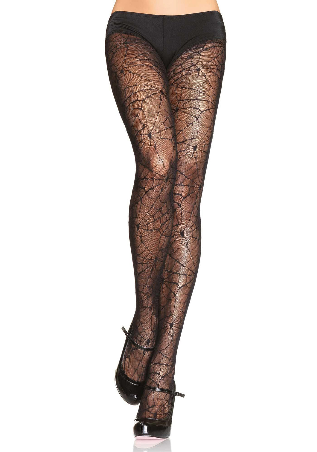 Black Spider Lace Tights - Amore Lingerie