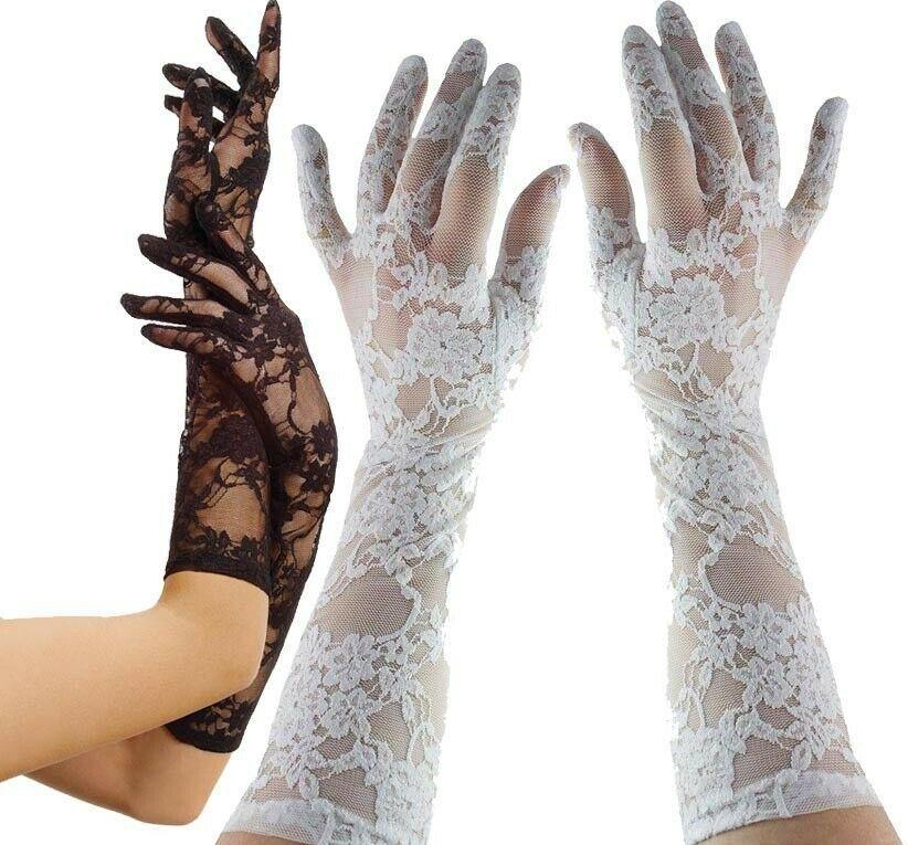 Elbow Lace Gloves - Amore Lingerie
