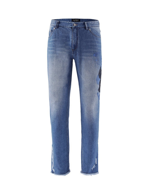 MARK FAST Men Washed Denim Regular Straight Fit Jeans