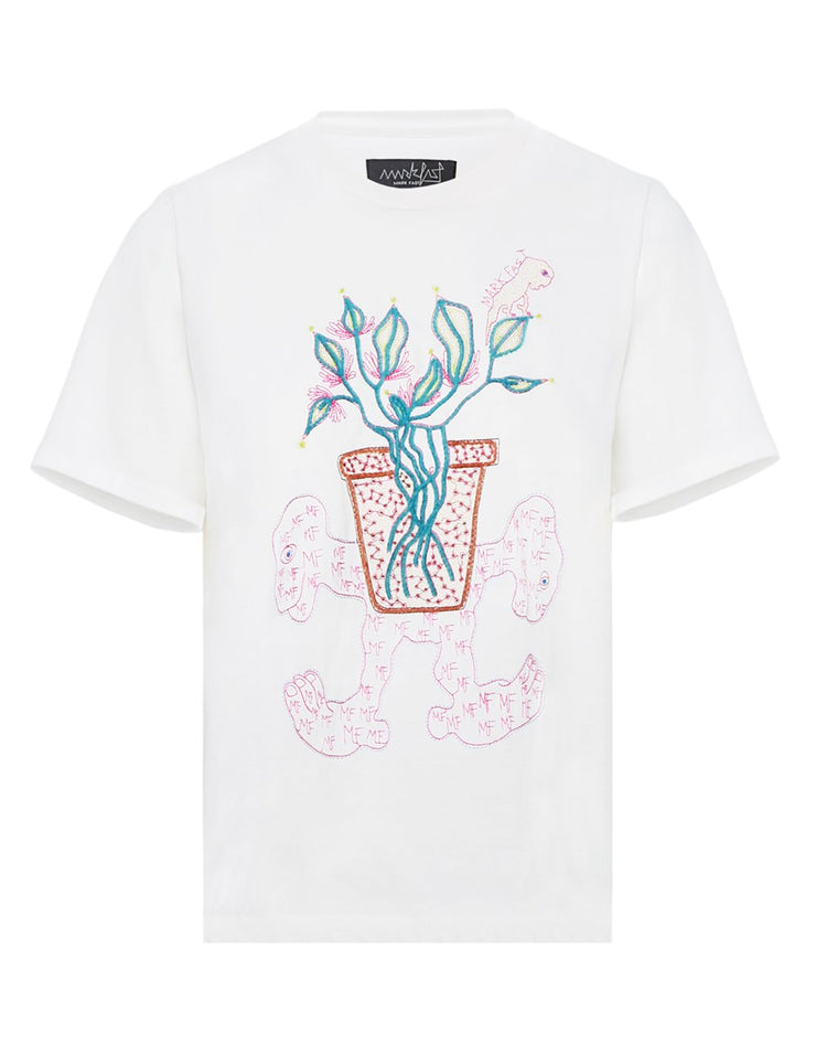 MARK FAST Women MF Miracle Flower & Little Monster Short Sleeve T-Shirt