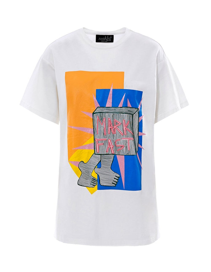 MARK FAST Women MF Beams of Light Printed Short Sleeve T-Shirt