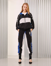 MARK FAST Women Contrast Color Logo Printed Sport Jogger Pants