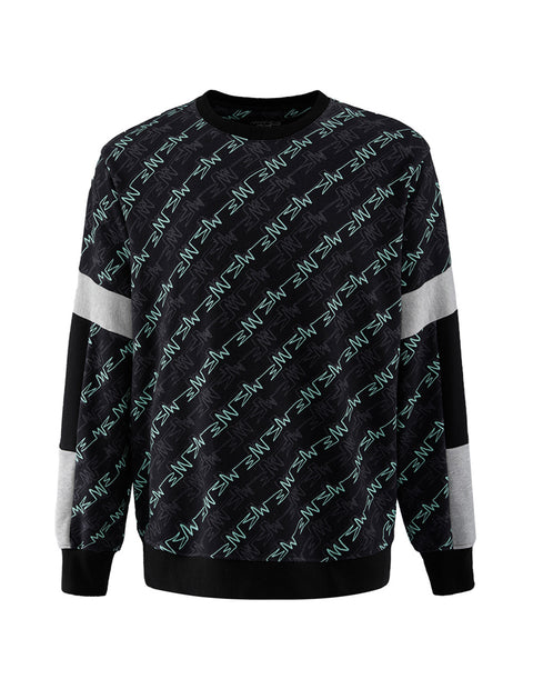 MARK FAST Men MF Monogram French Terry Crew Neck Sweatshirt