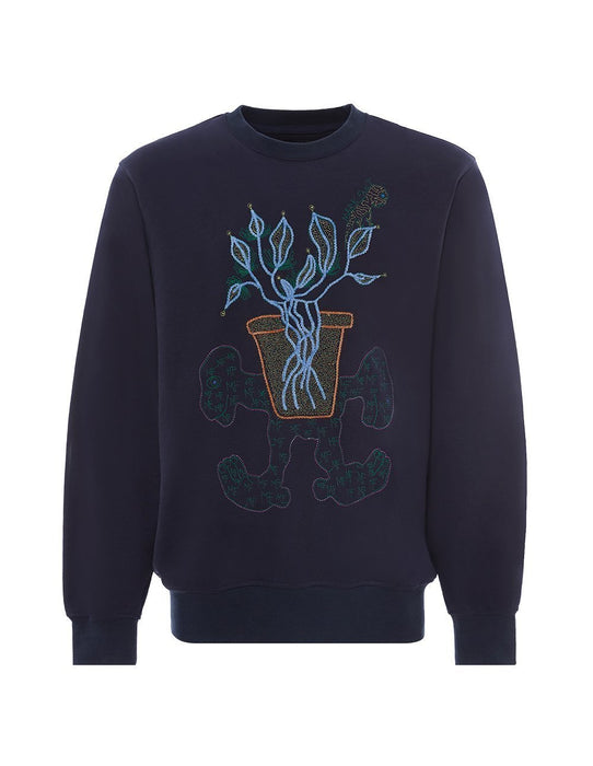 MARK FAST Men MF Miracle Flower & Little Monster Sweatshirt