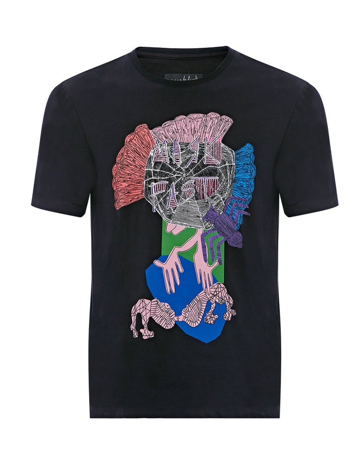 MARK FAST Men MF Neon Monster Short Sleeve T-Shirt