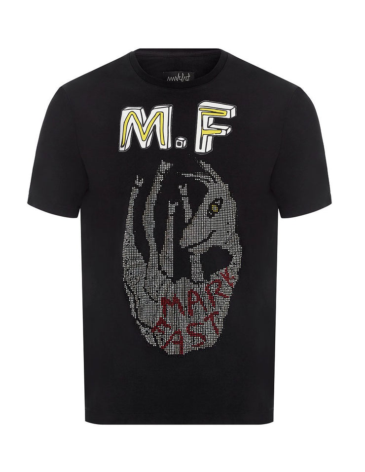 MARK FAST Men MF Happy Horse Printed Short Sleeve T-Shirt