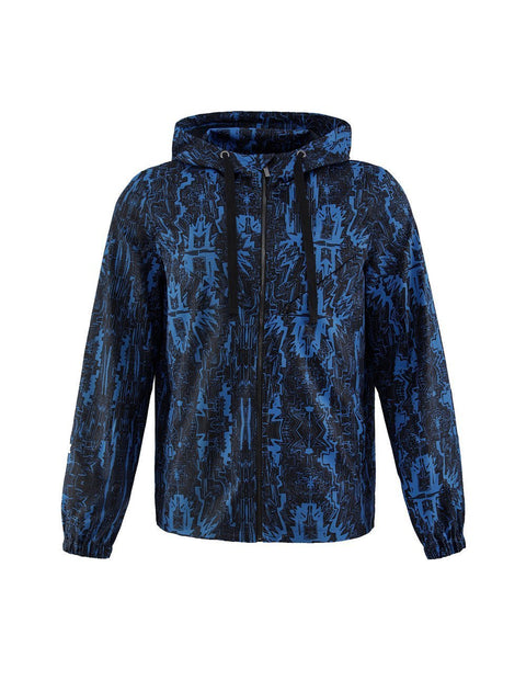 MARK FAST Men MF Psychedelic Graffiti Pattern Hoodie Sport Jacket