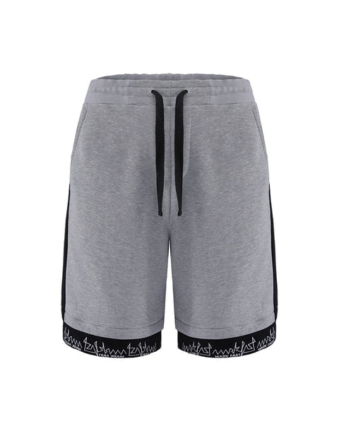 MARK FAST Men Contrasted French Terry Embroidered Logo Sport Shorts