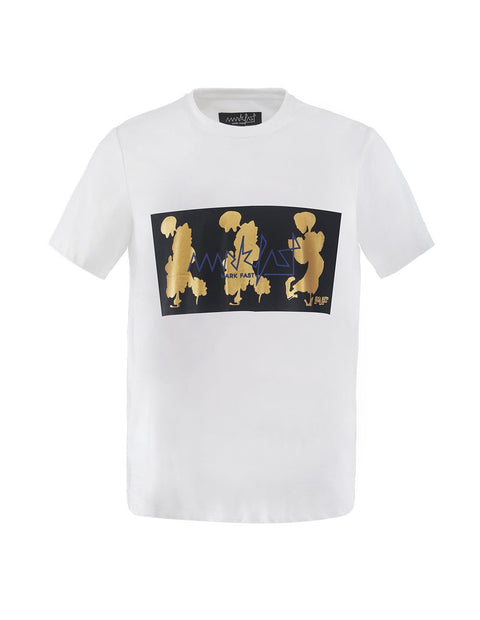 MARK FAST Men MF Dancing Floral Monster Metallic Printed Short Sleeve T-Shirt