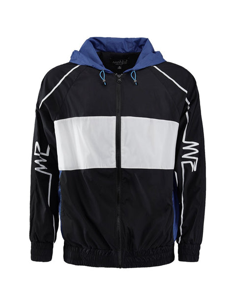 MARK FAST Contrast Color Zip Up Hoodie Sport Jacket