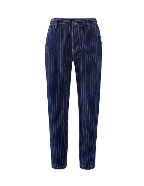 MARK FAST Men Striped Pattern Mid-Washed Denim Jeans