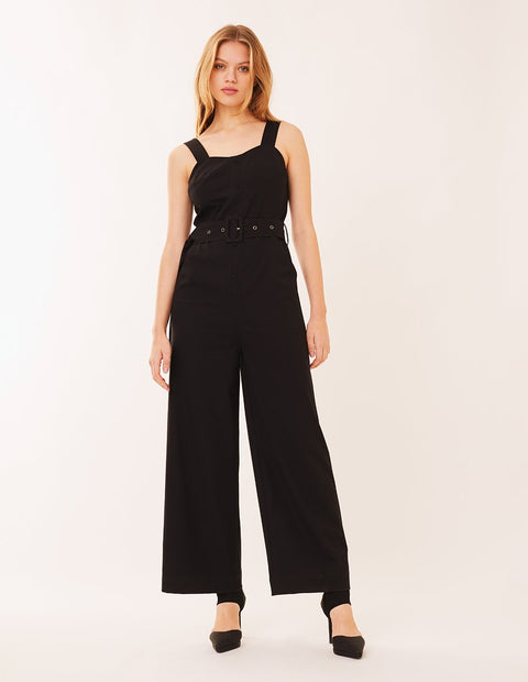 MARK FAST Women Straight Cut Wide Leg Sleeveless Jumpsuit