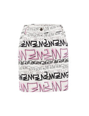 MARK FAST Women MF Graffiti Pattern Slim Fit Mini Skirt